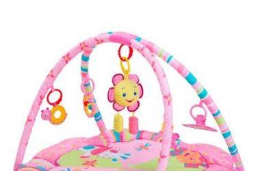 Różowa edukacyjna mata dla niemowlaka