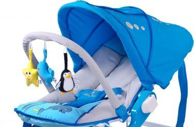 Bujaki dla dzieci z daszkiem kolor niebieski