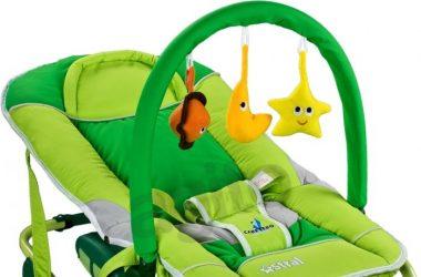 Leżaczek dla niemowlaka zielony