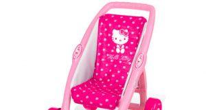 Wózek dla lalek Hello Kitty różowy