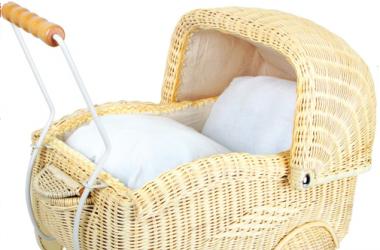 Wózki dla lalek wiklinowe