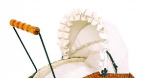 Wózki dziecięce dla lalek wiklinowe