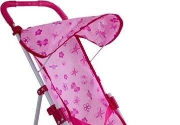 Tanie wózki dla lalek - różowy wózek spacerowy