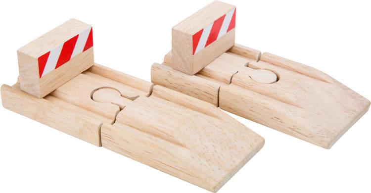 Blokada tory kolejka drewniana