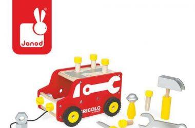 Ciężarówka do ciągnięcia + narzędzia - zabawka dla dzieci