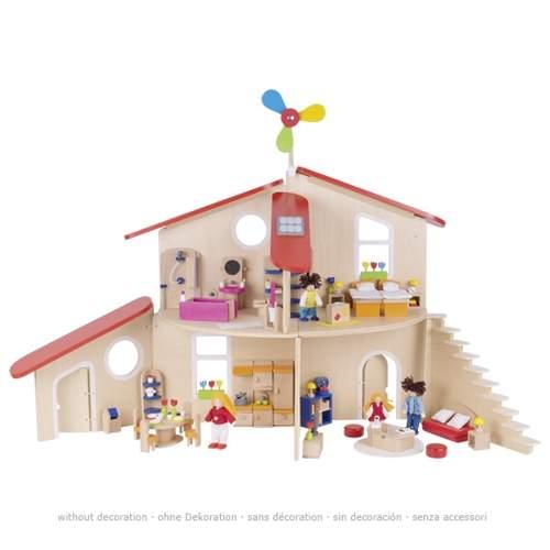 Wspaniały domek dla lalek zmienia kształty