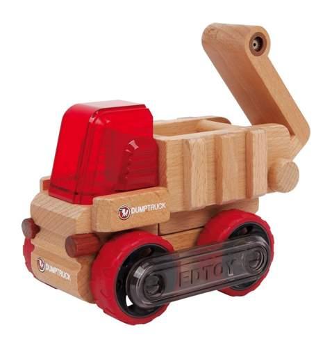 Drewniana koparka do zabawy dla dzieci