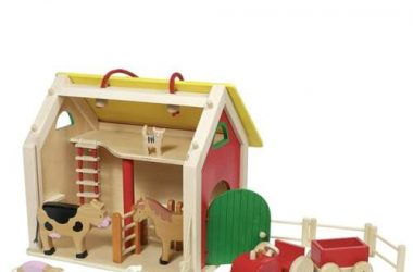 Drewniana farma zabawki dla dzieci