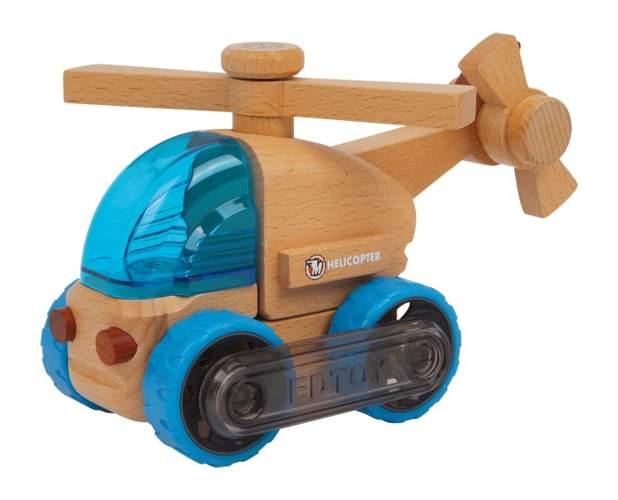 Drewniany helikopter do zabawy dla dzieci
