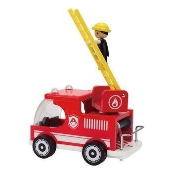 Drewniany wóz strażacki HAPE do zabawy dla dzieci