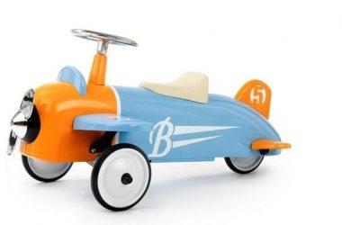Jeździk samolot metalowy dla dzieci