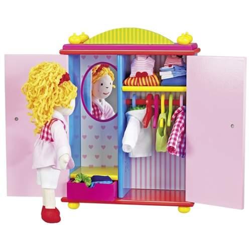 Lalka z szafą i ubraniami szmaciana Karry
