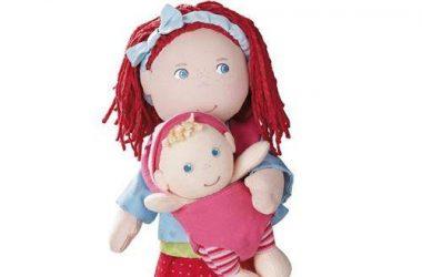 Szmaciane lalki dla dziewczynek Rubina z dzieckiem