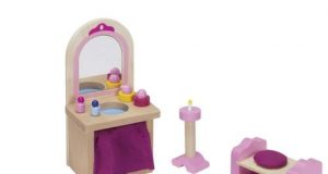 Wyposażenie domku dla lalek mebelki do łazienki