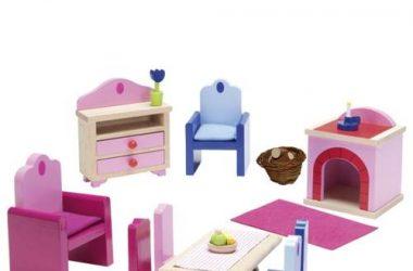 Mebelki do domku dla lalek - salon