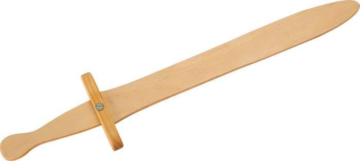 Drewniany miecz rycerski dla dzieci