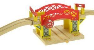 Drewniany most zwodzony zabawka dla dzieci kolejka