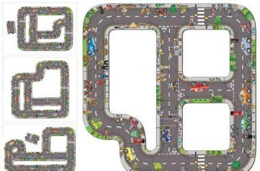 Droga puzzle dla dzieci - Ogromna Jezdnia do zabawy
