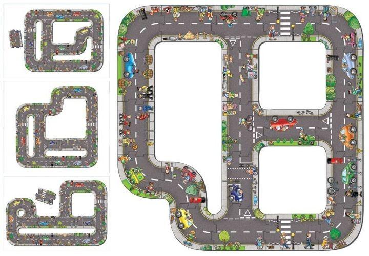 Droga puzzle dla dzieci – Ogromna Jezdnia do zabawy