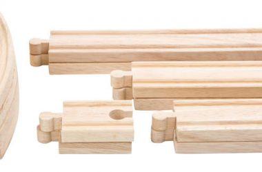 Tory do kolejki drewnianej - 12 szt