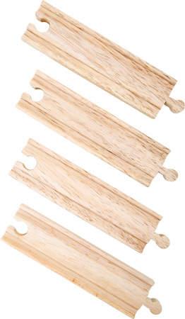Drewniane tory średnie kolejek