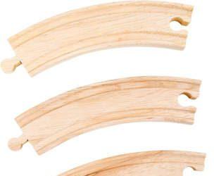 Tory zaokrąglone do kolejek drewnianych