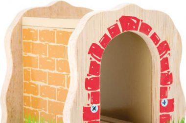 Tunel do kolejek drewnianych