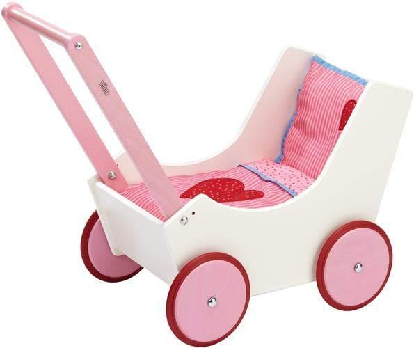 Duże wózki dla lalek - Serca