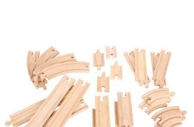 Zestaw torów proste i zakręty drewniane kolejki