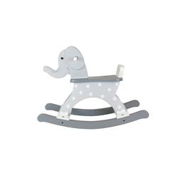 Drewniana zabawka na biegunach słoń