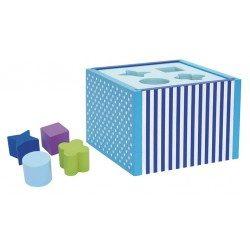 Sorter kształtów drewniany niebieski