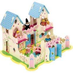 Drewniany Zamek Księżniczki Bigjigs zamek dla lalek