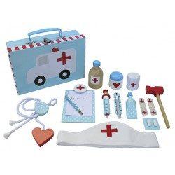 Drewniany zestaw lekarski dla dzieci