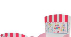 Różowe łóżko dziecięce dla dziewczynki Kidsaw seria PatisseriE