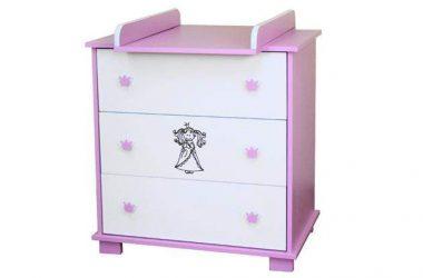 Komoda dla dziewczynki różowa Princess