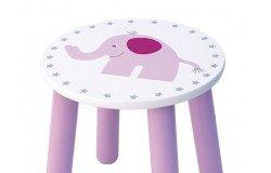 Drewniane krzesełko dla dzieci różowy słoń