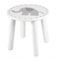 Taboret dziecięcy - krzesełko szary słonik