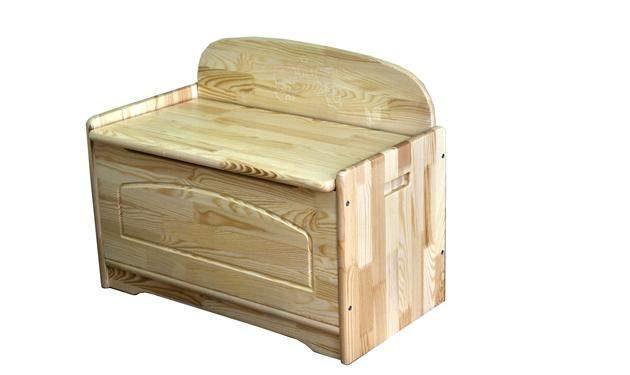 Skrzynia drewniana dla dzieci
