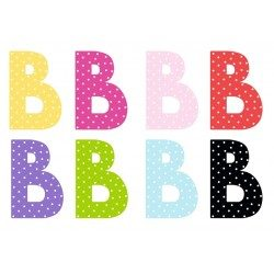 Litera B - dekoracja na ścianę literki z imieniem dziecka