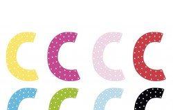 Litera C - dekoracja na ścianę litery dekoracyjne