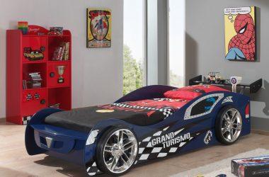 Łóżko samochód auto Grand Turismo niebieskie