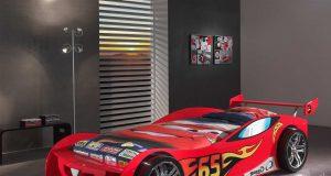 łóżko auto dla chłopca Lemans czerwony
