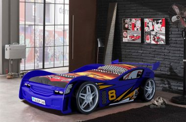 łóżko samochód dla dzieci Night Racer Blue