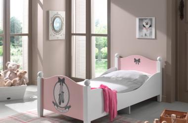 pojedyncze łóżko dla dziewczynki - balerina