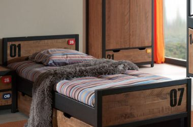 łóżko młodzieżowe Alex - sosna