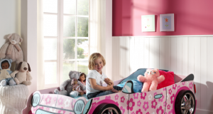 Łóżko samochód dla dziewczynki - Kwiat
