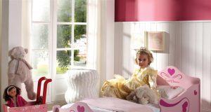 Różowe łóżko księżniczki Princessa 140x70cm