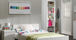 Łóżko młodzieżowe 90x200 cm Robin White