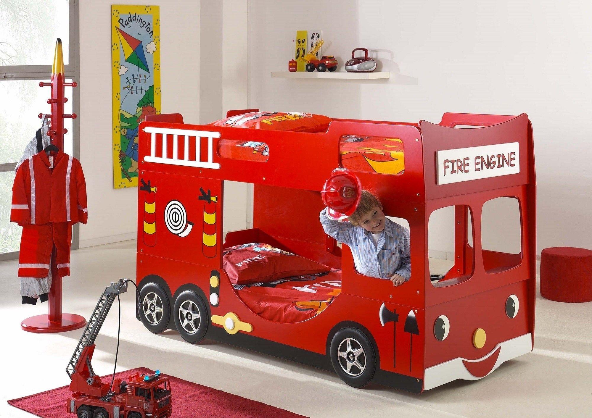 Łóżko piętrowe straż pożarna dla dziecka