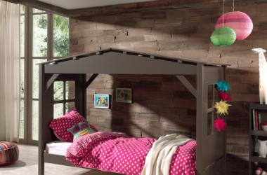 Łóżko dziecięce domek drewniane Pino